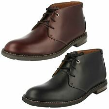 MENS CLARKS LEATHER LACE UP UNSTRUCTURED DESERT ANKLE BOOTS SHOES UNELOTT MID