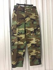 RIPSTOP BDU WOODLAND CAMO COMBAT BATTLE DRESS UNIFORM US MILITARY PANTS TROUSERS