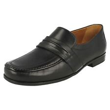 MENS CLARKS SLIP ON LIGHTWEIGHT FORMAL WIDE LEATHER LOAFERS SHOES CLAUDE ASTON