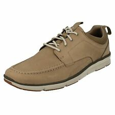 MENS CLARKS LACE UP DRESS CASUAL NUBUCK LEATHER SPORTS SHOES TRAINERS ORSON BAY
