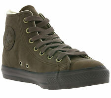Converse All Star Chuck Taylor Shearling HI Shoes Women's Leather Brown 111175