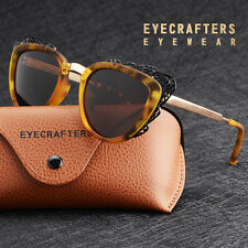 Fashion Brand Designer Womens Sunglasses Polarized Retro Vintage Cat Eye Shades