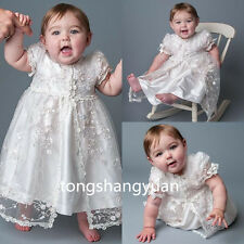 New Lace Baby Baptism Dresses Bead Christening Gowns Blessing 2017 White Ivory