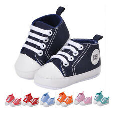 Kids Boys Girls Sports Shoes Sneakers Baby Infant Soft Bottom First Walkers 7c