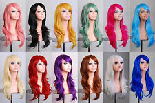 """28"""" 70cm Long Hair Heat Resistant Spiral Curly Cosplay Wig"""