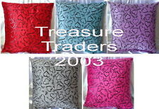 ♡ FREE POST LOVE HEARTS CUSHION COVER choose RED PURPLE BLUE PINK SILVER