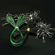 New Fishing Tools Fishing Line Steel Wire Leader With Swivel And Snap 20Pcs/Pack