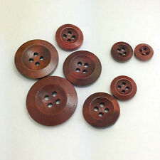 50Pcs 4 Holes Wooden Round Buttons Clothing Buttons DIY Sewing Craft Great