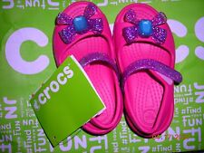Toddler Crocs Keeley raspberry pink mary jane