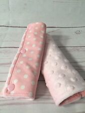 Cotton and super soft minky pram/stroller or car seat strap covers/ teething pad