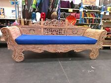 Hand carved Bali Teak Daybed white wash also available in dark stain