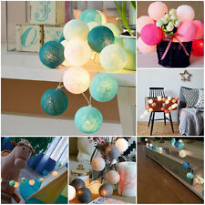 20LED Cotton Ball Fairy String Light Wedding Holiday Party Patio Home Decoration