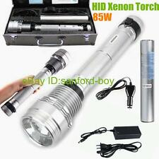 HID Tactical Flashlight 8500 Lumens Rechargeable Battery 85W HID Xenon Torch New