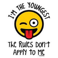 I'm The Youngest The Rules Don't Apply To Me T-Shirt Kids Children's Silblings