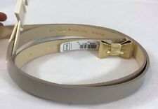 NEW KATE SPADE Bow Tie Gold/ nude Genuine Patent Leather Belt $68