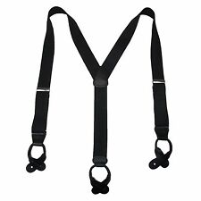New MTL Men's Big and Tall Elastic Button End Dress Suspenders USA Made