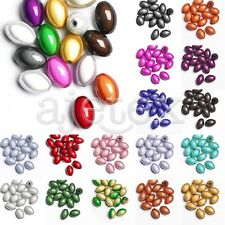 15pcs Rice Acrylic Miracle Beads Illusion Jewellery Craft 14x9.5x9.5mm 18 Colors
