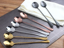 Color StainlessSteel Spoon Long Handle Ice Spoon Coffee Spoon Tea Good Quality