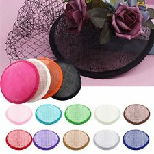 Round Sinamay Hat Fascinator Base Millinery Crafts DIY Supplies Material 13.5cm