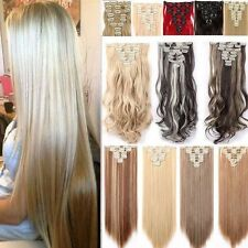 8 Pieces Full Head Clip in Hair Extensions Many Colors Real Natural as Human Fhn