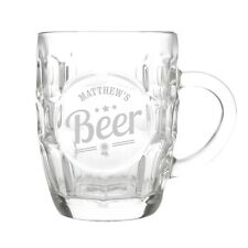NEW PERSONALISED DIMPLE PINT GLASS CHOOSE FROM 3 DESIGNS FATHER DAY BIRTHDAY