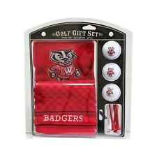 University of Wisconsin Badgers Golf Towel with Golf Balls Gift Set