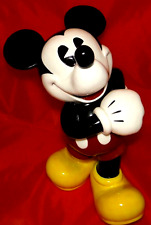 """RARE 14"""" Musical Ceramic Mickey Mouse - Plays """"Mickey Mouse Club"""" **SEE VIDEO**"""