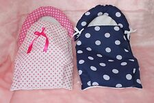 """DOLLS PRAM PADDED LINER COSY TOES FOR REBORN BABY ANNABELL DOLLS 16-20"""""""