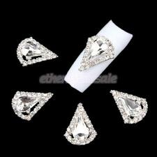 10Pcs Nail Art Rhinestones Glitter Diamond Gems 3D Tips DIY Decoration Tools