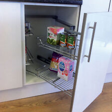 Pull & Swing Out Magic Corner Unit Soft Close for 800-1000mm Kitchen Unit