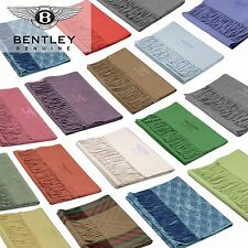 Bentley Embroidered Luxury 100% Pure Cashmere Scarves Made in Scotland