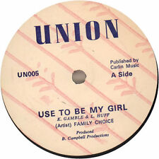 "Use To Be My Girl Family Choice 7"" vinyl single record UK UN005 UNION 1978"