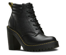 Dr Martens Ladies Persephone Aunt Sally Black Heeled Ankle Boots