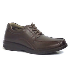 Hush Puppies PAYTON STONE IIV Mens Brown Leather Bicycle Toe Oxfords Shoes