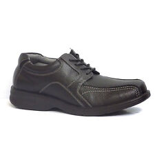 Hush Puppies PAYTON STONE IIV Mens Black Leather Bicycle Toe Oxfords Shoes