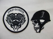 HARLEY DAVIDSON EVEL KNIEVEL NR 1 SKULL, HARLEY ENGINE, VEST JACKET SEW ON PATCH