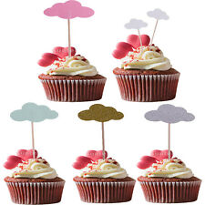 MagiDeal 50pcs Cloud Cupcake Picks Cake Toppers Wedding Baby Shower Party Decor