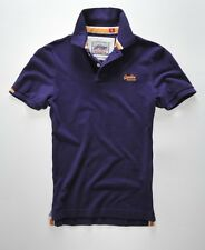 New Mens Superdry Classic Pique Polo Polo Purple