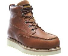 """WOLVERINE W08289-EW WORK WEDGE 6"""" MOC TOE ST Mn's (EW) Brown Leather Boots"""