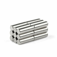 "N35 D.3mm x 10mm (0.12x0.4"") Neodymium Cylinder Rare Earth Strong Magnets New"