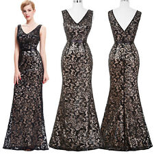 Sequined Long Bridesmaid Evening Gown Formal Cocktail Party Ballgown Prom Dress;