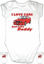 LOVE CAR BMW RED Daddy Baby Grow Gro Clothes u k Vest Body Suit Motor