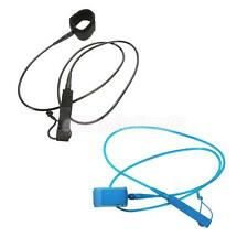 New Premium 6/7/8/10/12ft Surf Leash Surfboard SUP String Cord & Double Swivels