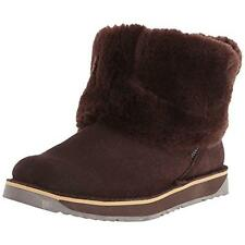 Tundra Boots Womens Alpine Suede Fold Over Winter Boots