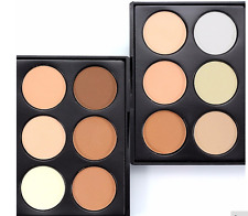 Powder Face Contour Highlighter Eye Shadow Bronze Palette Concealer Nose Shadow