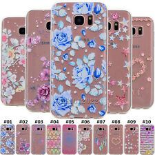 Painted Soft TPU Transparent Rubber Slim Skin Back Case Cover For Samsung Galaxy