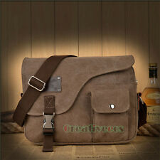Men Women Canvas Vintage School Satchel Crossbody Messenger Shoulder Casual Bag