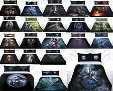 Anne Stokes Fantasy Gothic Dragon Owl Quilt Doona Cover Set - DOUBLE QUEEN KING
