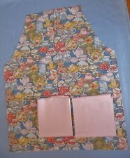Cut Out Apron Front Retro Teapots + Solid Soft Pink Fabric Pieces Fabric