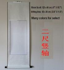 """Empty Blank Chinese Japanese Calligraphy Painting Silk Vertical Wall Scroll 47"""""""